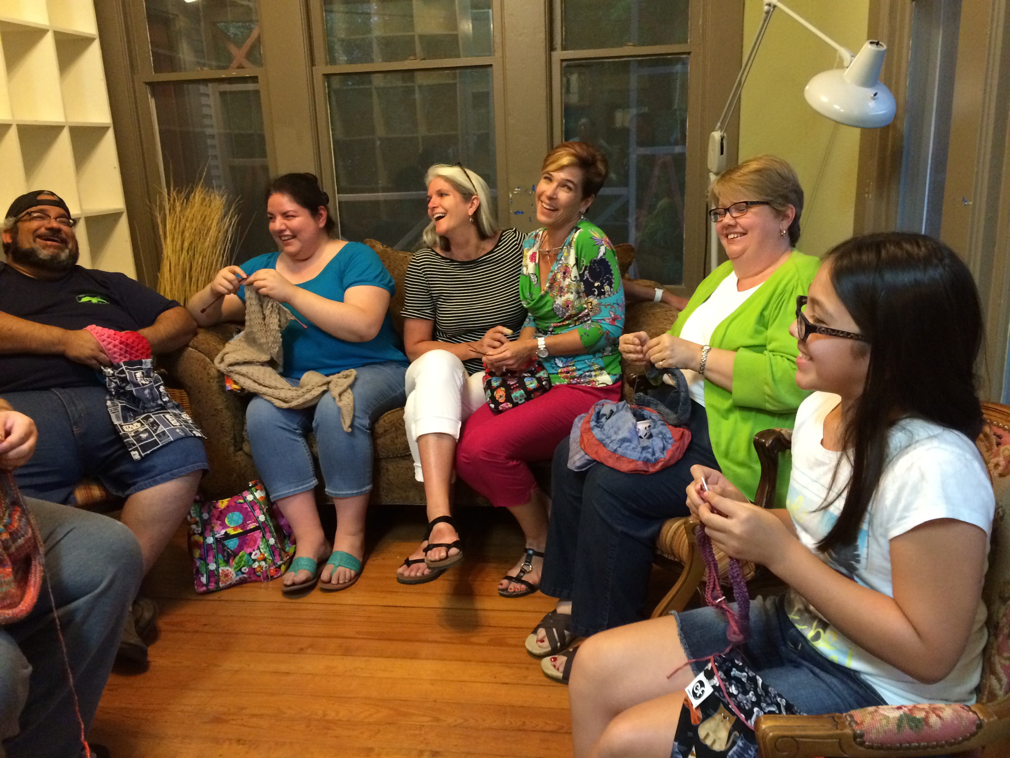 Tuesday Stitch Night at the Yarn Barn