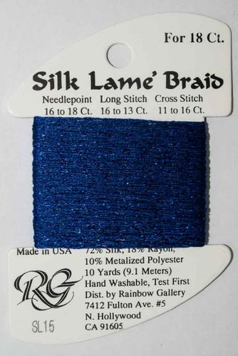 Rainbow Gallery - Silk Lame Braid 18 Needlepoint Thread