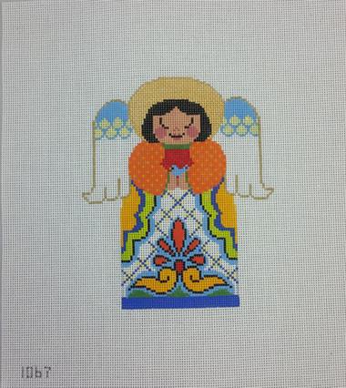 Tapestry Fair - 1067 Talavera Angel Blanca - Needlepoint Canvas