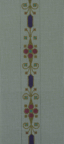 Hand-Painted Needlepoint Canvas - Creative Needle - 72-BL - Jeweled Belt