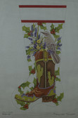 Hand-Painted Needlepoint Canvas - Mary Lake Thompson - MLT-152A - Mocking Bird Boot Stocking
