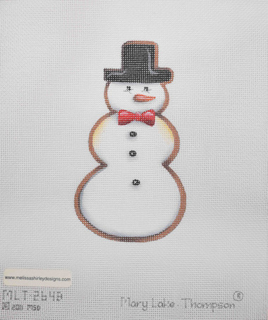 Hand-Painted Needlepoint Canvas - Mary Lake Thompson - MLT-264B - Snowman Cookie