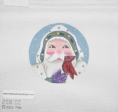 Hand-Painted Needlepoint Canvas - Melissa Shirley Designs - 208-CC - Santa Ornament