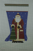 Hand-Painted Needlepoint Canvas - Melissa Shirley Designs - DM41-2E - Santa Stocking