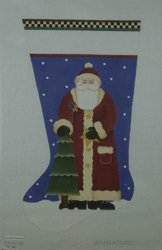 Hand-Painted Needlepoint Canvas - Melissa Shirley Designs - DM41-2E - Santa Stocking