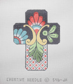 Hand-Painted Needlepoint Canvas - Creative Needle - 546-JH - Talavera Cross II