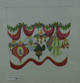 Hand-Painted Needlepoint Canvas - Strictly Christmas - CSC-100 - Ornament Stocking Cuff I