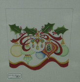 Hand-Painted Needlepoint Canvas - Strictly Christmas - CSC-110 - Ornament Stocking Cuff II