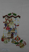 Hand-Painted Needlepoint Canvas - Strictly Christmas - CS-152P - Elegant Ornament Stocking