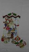 Hand-Painted Needlepoint Canvas - Strictly Christmas - CS-152P - Elegant Ornament Stocking