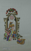 Hand-Painted Needlepoint Canvas - Strictly Christmas - CS-353 - Nativity Theme Stocking