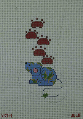 Hand-Painted Needlepoint Canvas - Julia's Needleworks - YST-19 - Mid Stocking