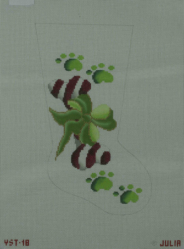Hand-Painted Needlepoint Canvas - Julia's Needleworks - YST-18 - Mid Stocking