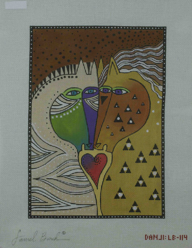Hand-Painted Needlepoint Canvas - Laurel Burch - LB-114 - Horses