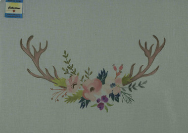 Hand-Painted Needlepoint Canvas - Sundance Designs - SD-NM04 - Antler Bouquet #2