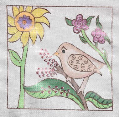 Hand-Painted Needlepoint Canvas - Sundance Designs - SD-GGSP - Sitting Pretty