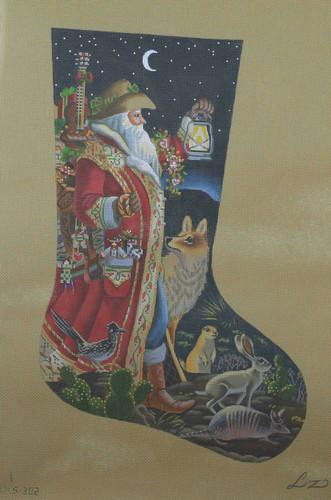 Hand-Painted Needlepoint Canvas - Susan Roberts - AXS302-13 - Southern Santa