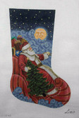 Hand-Painted Needlepoint Canvas - Susan Roberts - AXS421-13 - Moonlight Santa