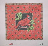 Hand-Painted Needlepoint Canvas - Amanda Lawford - 6191 - Cardinal
