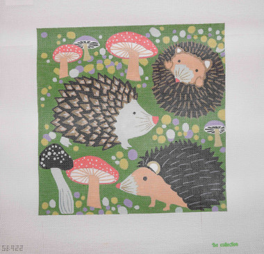 Hand-Painted Needlepoint Canvas - The Collection - SB-922 - Hedgehogs