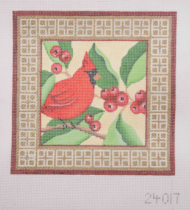 Hand-Painted Needlepoint Canvas - Amanda Lawford - 24017 - Cardinal