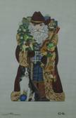 Hand-Painted Needlepoint Canvas - Amanda Lawford - 10-16 - Western Santa