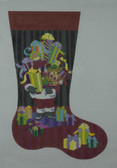Hand-Painted Needlepoint Canvas - Ruth Schmuff - 2146 - Santa and Toys