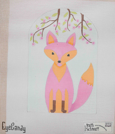 Hand-Painted Needlepoint Canvas - Ruth Schmuff - 8268 - Spring Fox