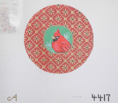 Hand-Painted Needlepoint Canvas - Amanda Lawford - 4417 - Cardinal
