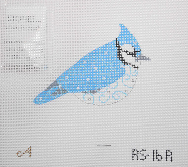 Hand-Painted Needlepoint Canvas - Amanda Lawford - RS-16R - Bird Ornament