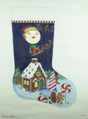 Hand-Painted Needlepoint Canvas - Nenah Stone - CH-84 - Gingerbread Lane