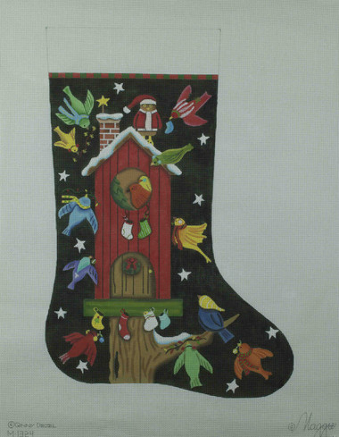 Hand-Painted Needlepoint Canvas - Maggie Co - M-1324 - The Birdies Tree