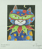 Hand-Painted Needlepoint Canvas - Laura Seeley - M-1233 - Mardi Gras