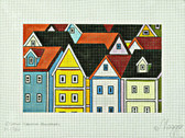 Hand-Painted Needlepoint Canvas - Cathy Horvath-Buchanan - M-1782 - Tall Town