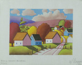 Hand-Painted Needlepoint Canvas - Cathy Horvath-Buchanan - M-1691 - Sunny Roadway