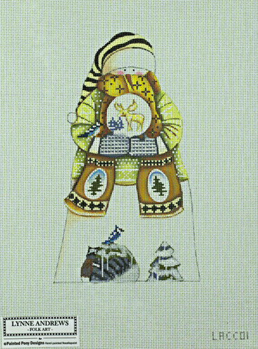 Hand-Painted Needlepoint Canvas - Lynne Andrews - LACC01 - Snowman
