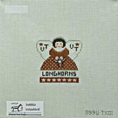 Hand-Painted Needlepoint Canvas - Debbie Woodward - 999UTX01 - UT Longhorn Angel