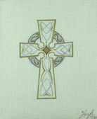 Hand-Painted Needlepoint Canvas - Leigh Designs - 4751W - Celtic Cross