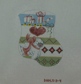 Hand-Painted Needlepoint Canvas - Danji Designs - D-04 - Lamb