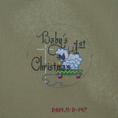 Hand-Painted Needlepoint Canvas - Danji Designs - D-147 - Baby's First Christmas (Boy)