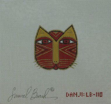 Hand-Painted Needlepoint Canvas - Danji Designs - LB-110 - Cat Face