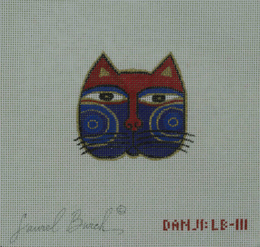 Hand-Painted Needlepoint Canvas - Danji Designs - LB-111 - Cat Face