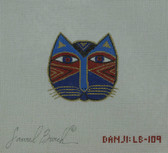 Hand-Painted Needlepoint Canvas - Danji Designs - LB-109 - Cat Face