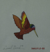 Hand-Painted Needlepoint Canvas - Danji Designs - LB-82 - Red Hummingbird