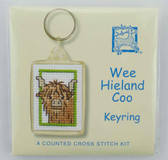 Wee Hieland Coo Counted Cross Stitch Keyring Kit