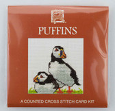 Puffins Counted Cross Stitch Card Kit