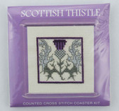 Scottish Thistle Counted Cross Stitch Coaster Kit