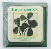 Irish Shamrock Counted Cross Stitch Coaster Kit