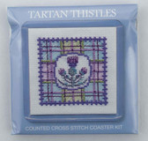 Tartan Thistles Counted Cross Stitch Coaster Kit