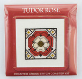Tudor Rose Counted Cross Stitch Coaster Kit